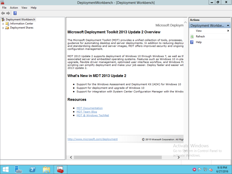 22 MDT Open Deployment Workbench