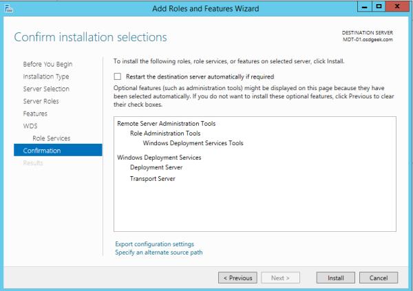 Microsoft Deployment Toolkit (MDT 2013) Basic Windows 10 Deployment